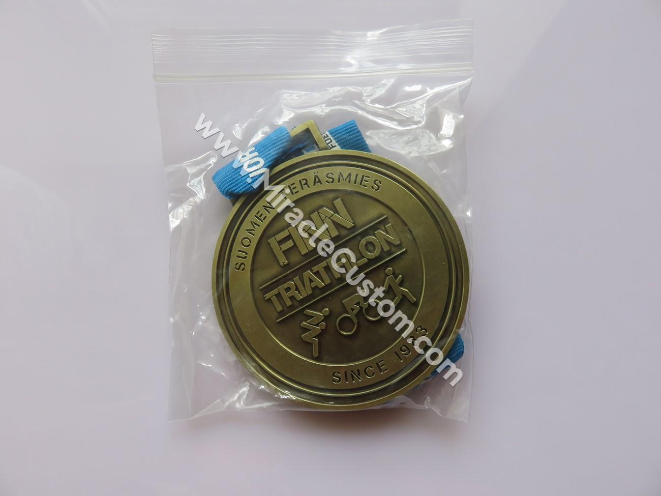 Triathlon custom race medals no minimum