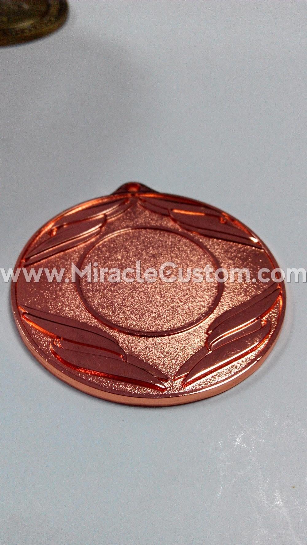 shiny copper medals
