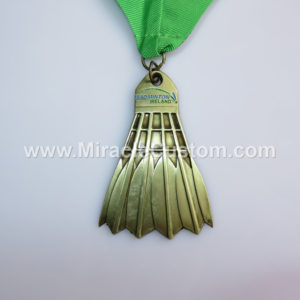 custom badminton medal