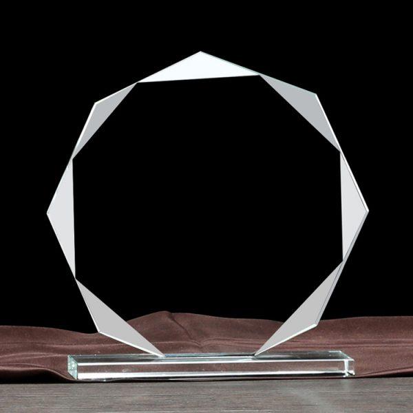 custom crystal trophy