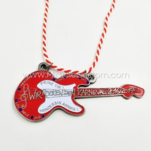 custom guitar shape medals
