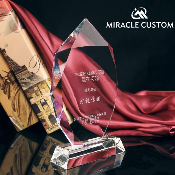 customized glass awards