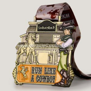 custom cowboy medal