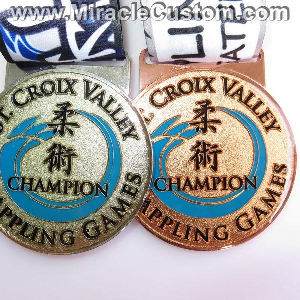 custom grappling medals