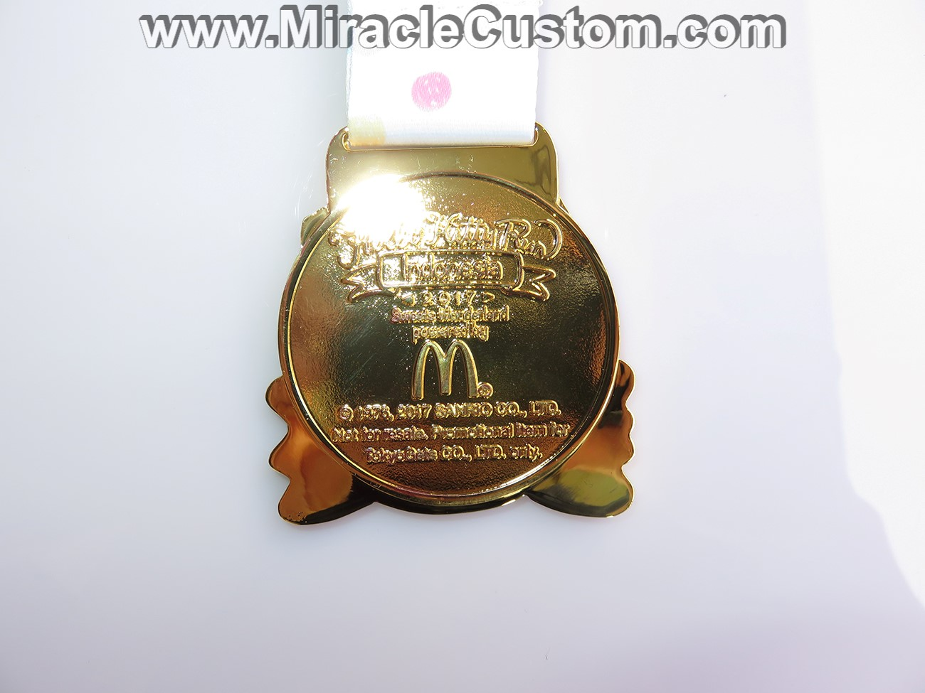 custom bright finish race medals