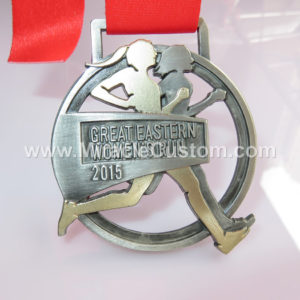 custom two tone plating marathon medals