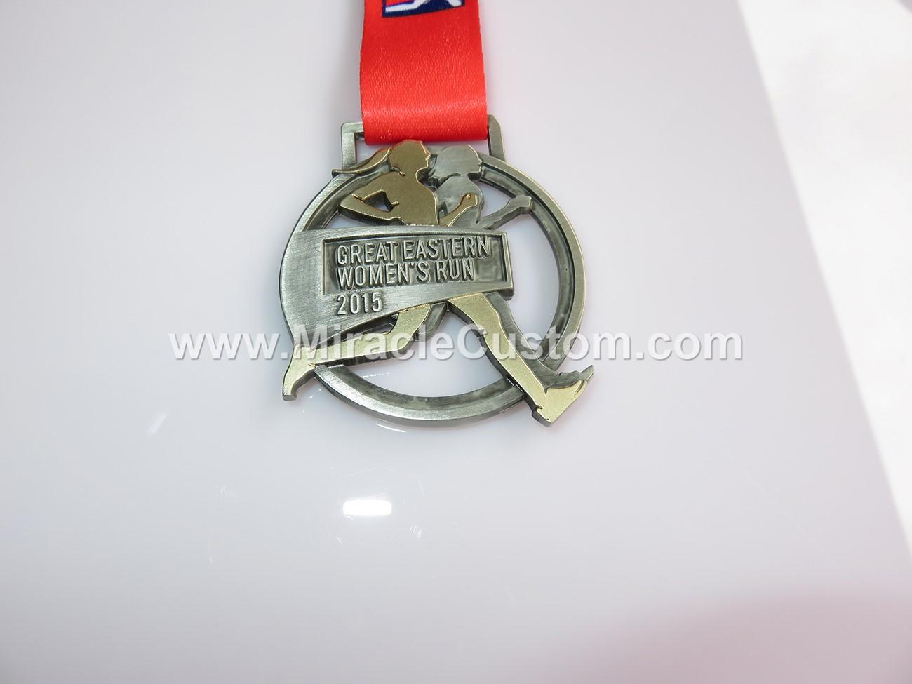 custom two tone plating marathon medals