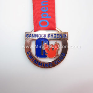 custom swimming club medals