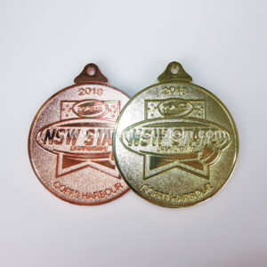 custom bright medals with sandblasting