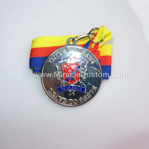 custom shiny nickel race medals