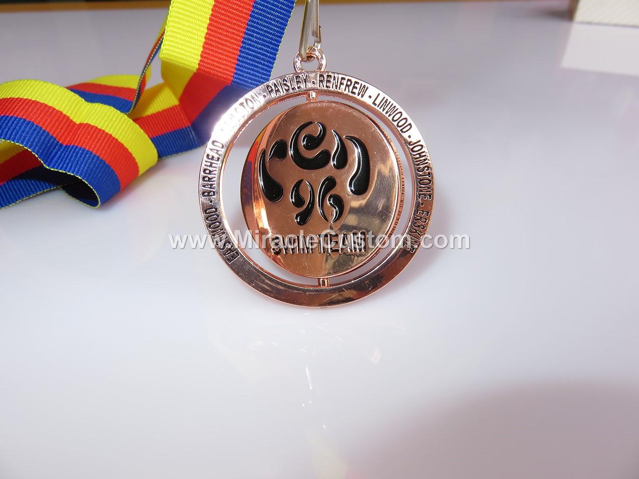 Spinning Custom Logo Medals