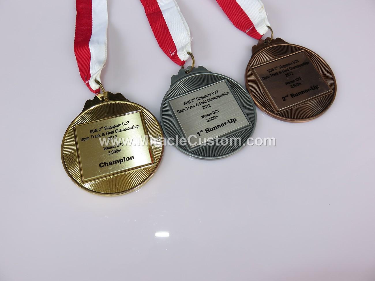 custom insert medals