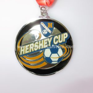 custom epoxy dome football medals