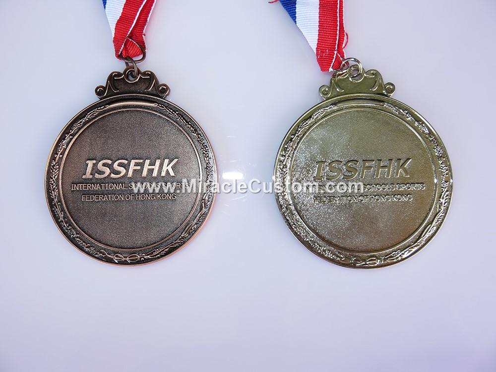 custom school sports medals