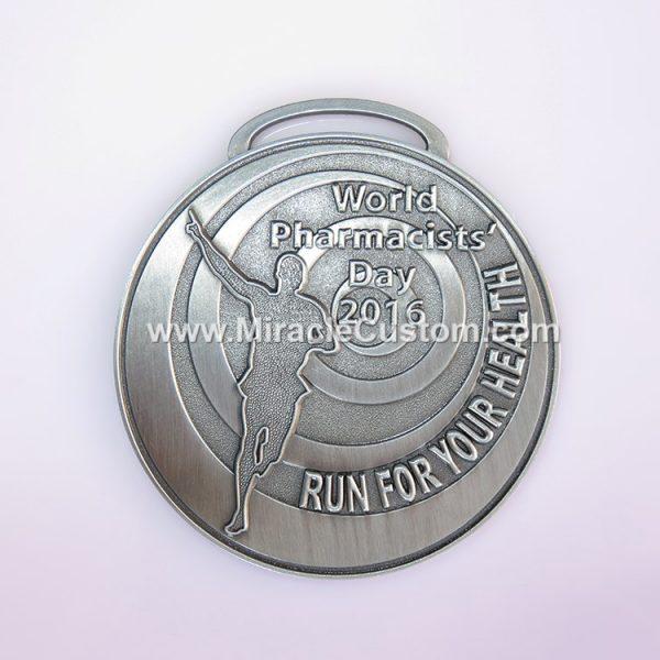 custom running event zinc alloy medals