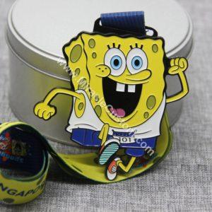 custom color fill race medals