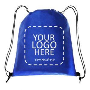 custom drawstring backpack with logo