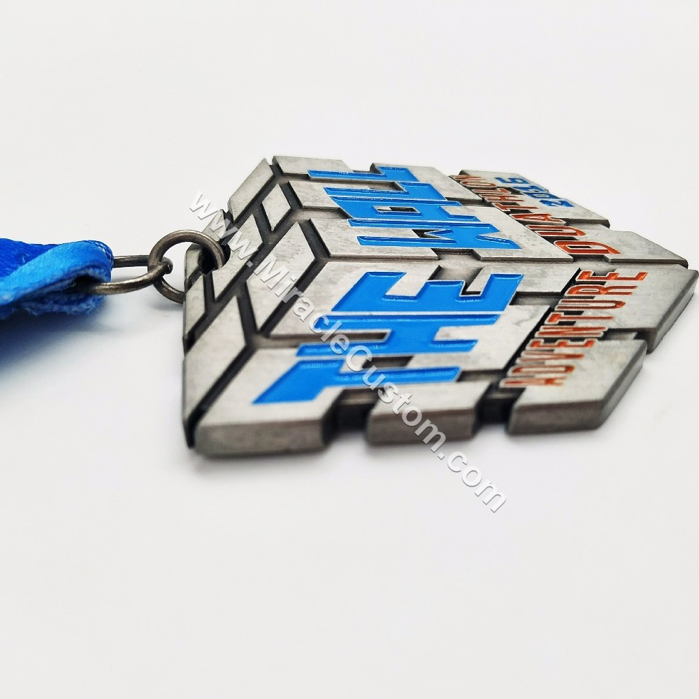 custom duathlon triathlon medals