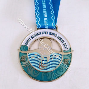 Custom Swimming Medals Color Filling