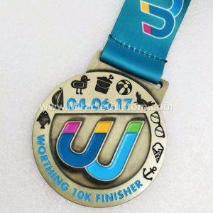 custom marathon 10k finisher medals