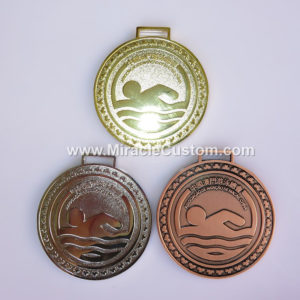 custom swim medals with your logo