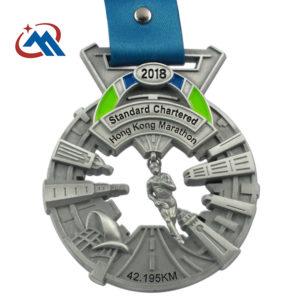 custom hongkong marathon medals
