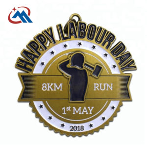 cusotm happy labor day medal