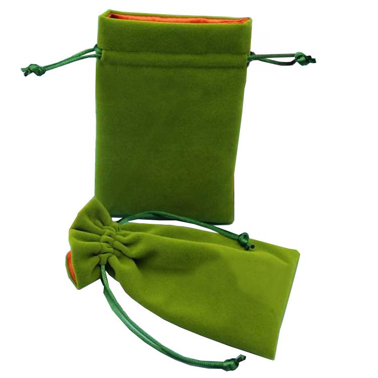 Customized Logo Custom Velvet Drawstring Pouch Velvet Bag