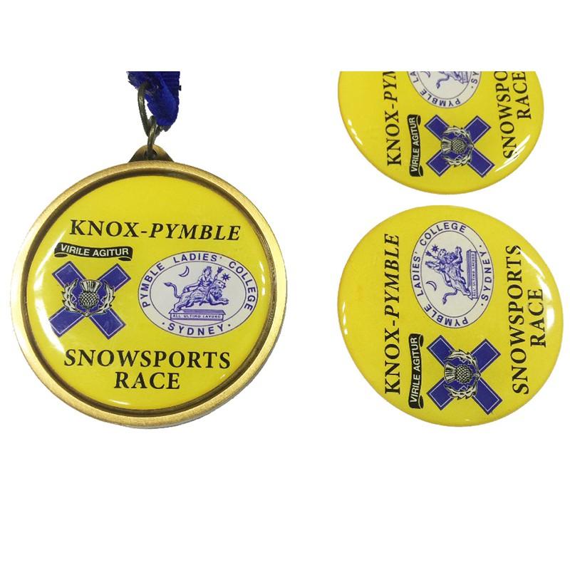 custom snow sports race epoxy medals