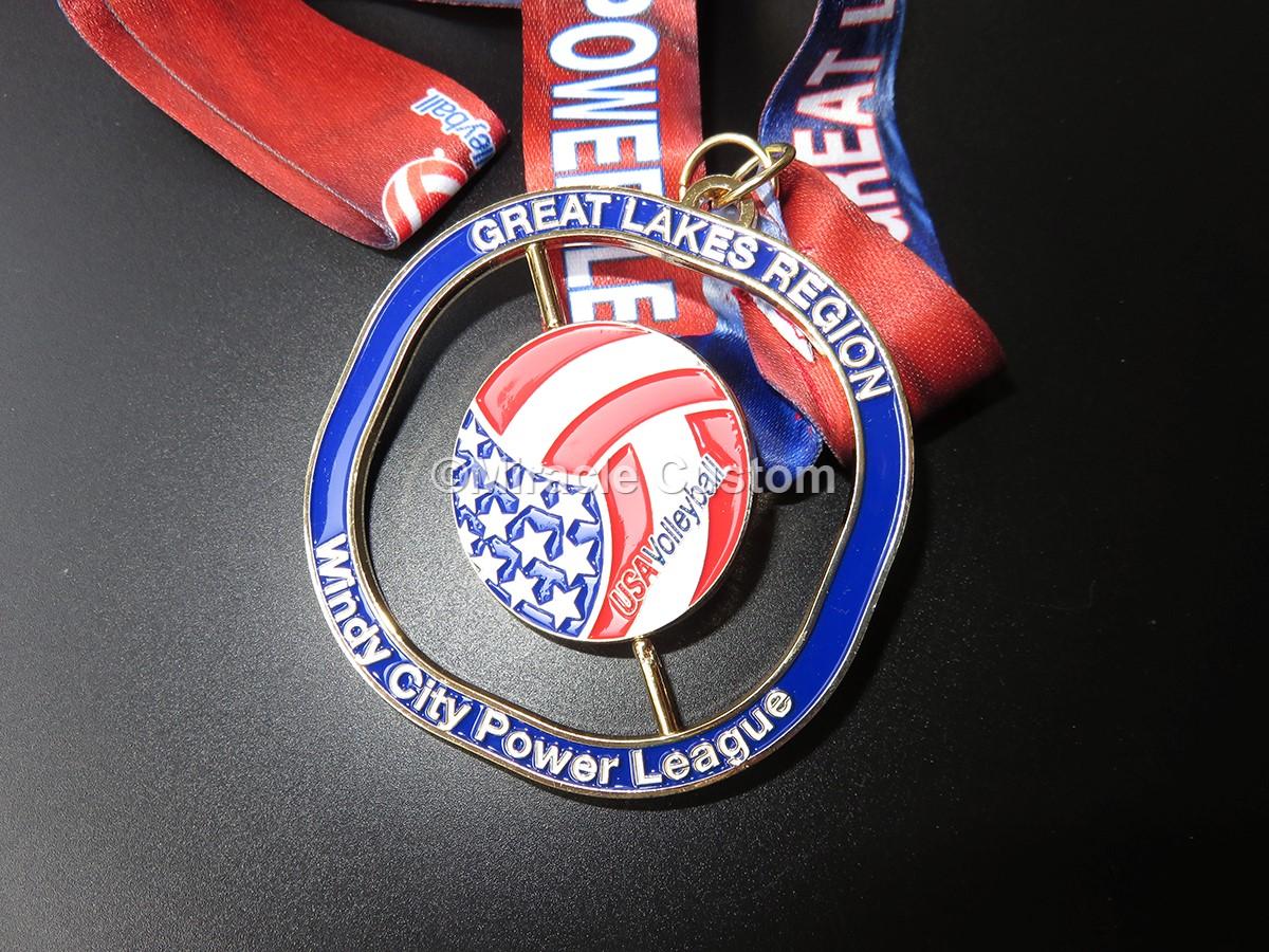 custom sports awards spin medals