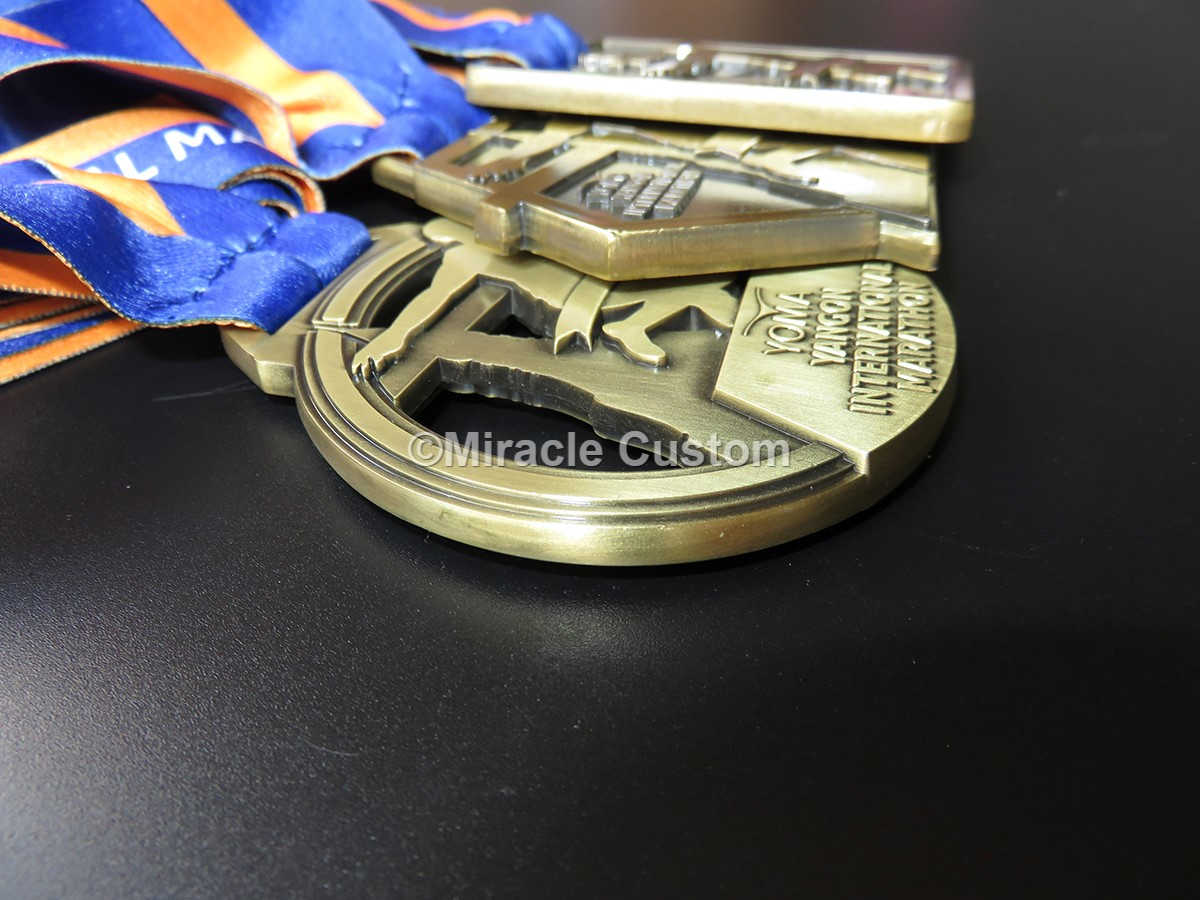 custom yoma yangon international marathon sports medals
