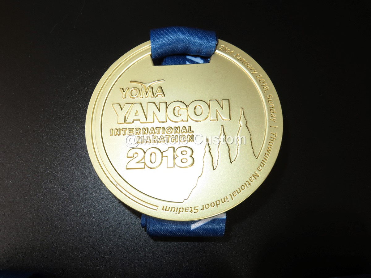 Custom International Marathon Medals