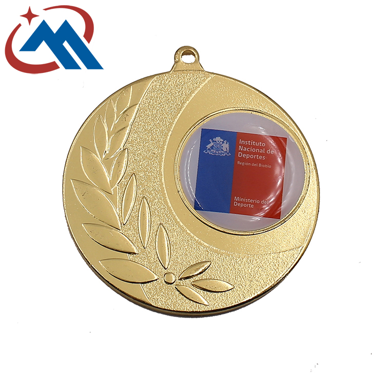 custom promotional medals with epoxy dome with sticker insert