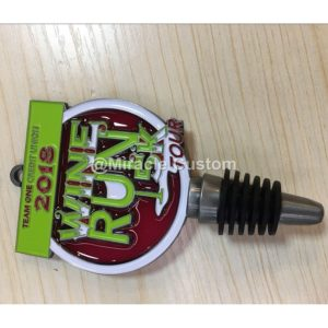 Custom Wine Stopper Race Medal