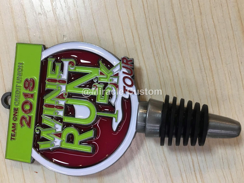Custom Wine Stopper Race Medal