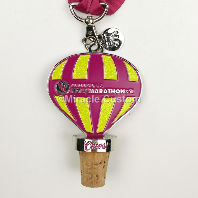Wine Stoppers and Bottle Opener Race Medals