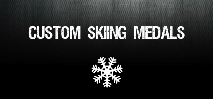 Custom Skiing Medals