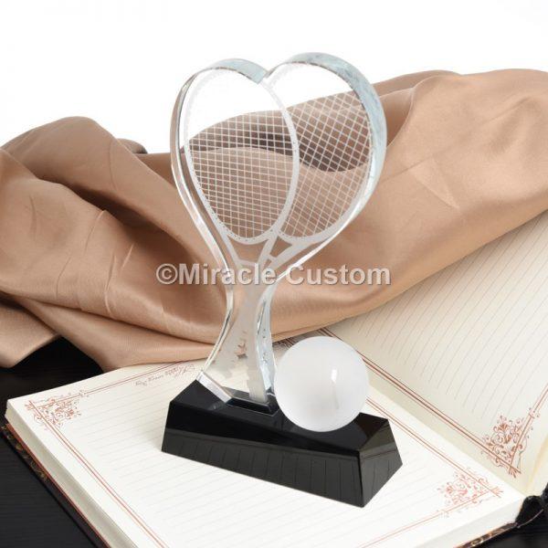 Custom tennis trophy