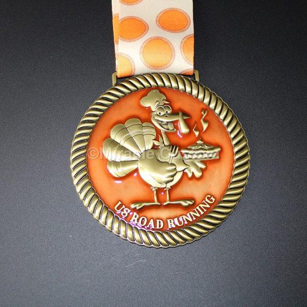 Custom translucent medal running medals