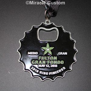 Custom Bottle Opener Race Medals