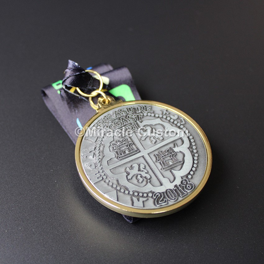 Custom Two Tone Plating Finish Medals