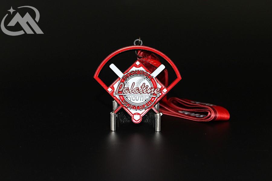 Black Dyed Custom Softball Medals