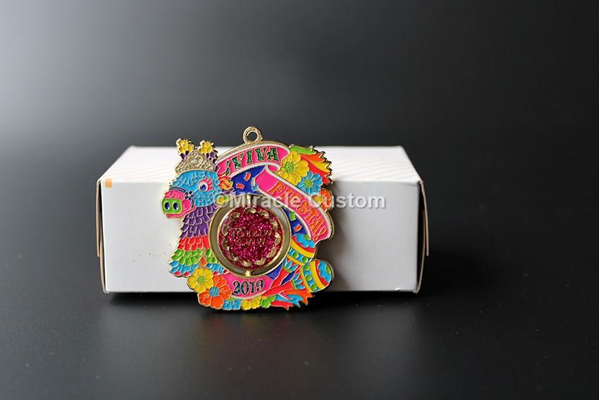 Custom Spinning Glitter Medals