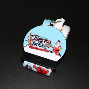 Custom Santa 5K Run Medals