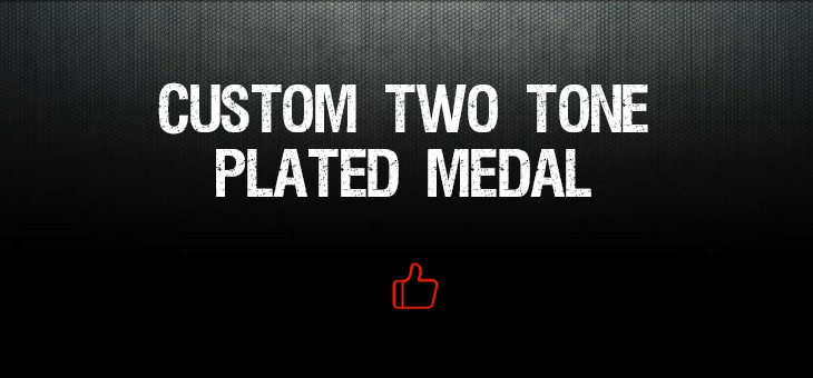 Custom Two Tone Plated Medal