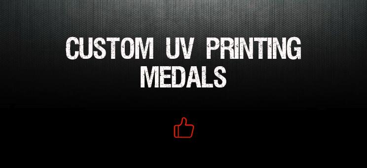 custom uv printing medals