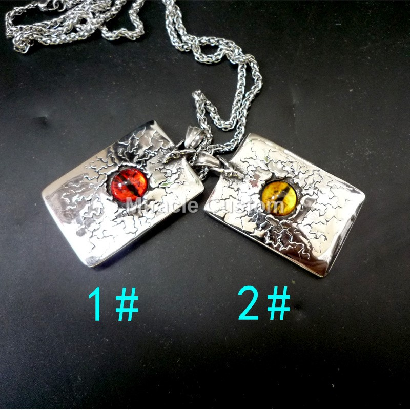 hiphop Evileye Mens Devil Stainless steel Pendant Necklace Gift Nazar Jewelry