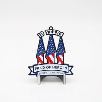 Custom 10 years anniversary medals
