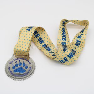 Custom Glitter Run Medals