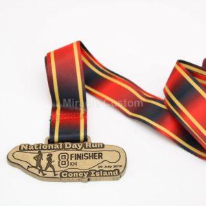 Custom 8KM Finisher Medals
